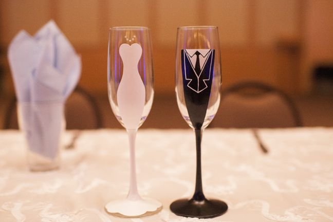 Toast to your big day with some DIY Toasting Flutes.