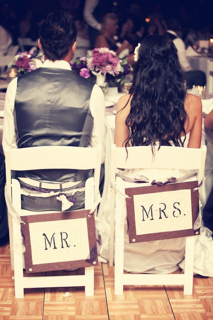 These seat signs are so cute! Learn how to make your own chair banner here.